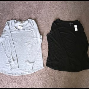 Long sleeve shirts (2) NWT